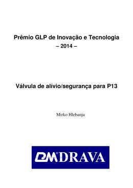 Prêmio GLP de Inovação e Tecnologia Válvula de alívio/segurança