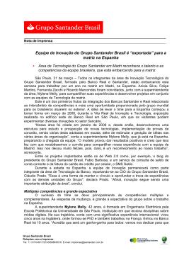 (31.03 Equipe de Inovação do Grupo Santander Brasil é exportada