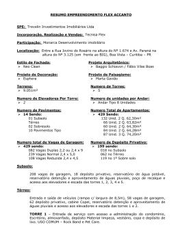 RESUMO EMPREENDIMENTO FLEX ACCANTO SPE: Trevelin