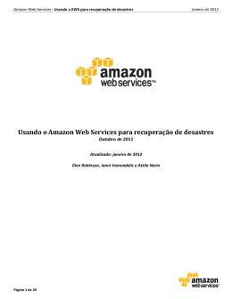 Usando o Amazon Web Services para recuperação