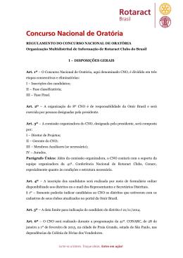 REGULAMENTO DO CONCURSO NACIONAL DE