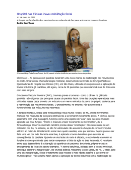 Hospital das Clínicas inova reabilitação facial