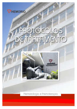 Protocolos de Tratamento Hematologia e Hemoterapia