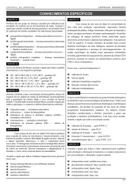 Tipo I - Cargo 35: Médico/Hematologista - Área de