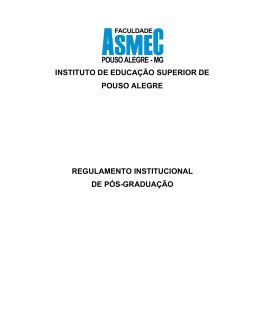 INSTITUTO DE EDUCAÇÃO SUPERIOR DE POUSO ALEGRE