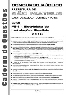 F84 - ELETRICISTA DE INSTALAÇÕES PREDIAIS.cdr