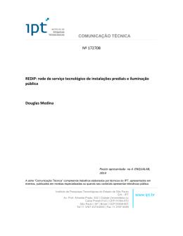 COMUNICAÇÃO TÉCNICA Nº 172708 REDIP: rede de serviço