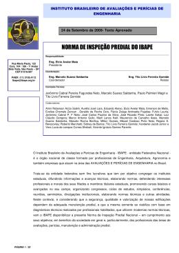 NORMA DE INSPEÇÃO PREDIAL DO IBAPE - Crea-PR