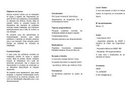 Folheto informativo - Instituto Superior de Engenharia