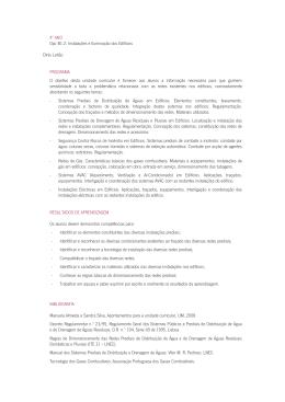 4º ANO Opc B1.2: Instalações e Iluminação dos Edifícios Dinis