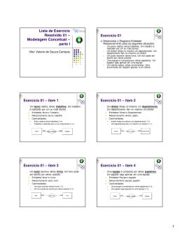1 Lista de Exercício Resolvido 01 – Modelagem Conceitual