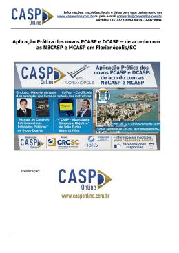 Aplicação Prática dos novos PCASP e DCASP – de