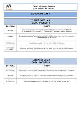Tarefa de casa - Curso e Colégio Acesso d3f2f745eb76d