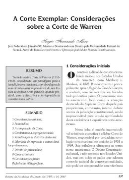 A Corte Exemplar: Considerações sobre a Corte de Warren