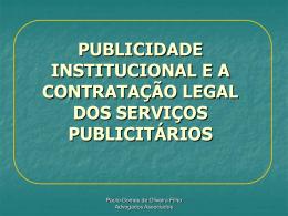 publicidade institucional e a contratação legal dos serviços