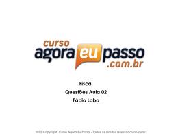 Fiscal Questões Aula 02 Fábio Lobo