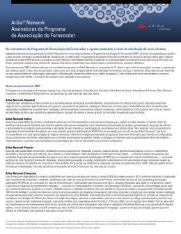 Ariba® Network Assinaturas do Programa de Associação do