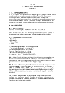 edital - Universidade Federal do Ceará