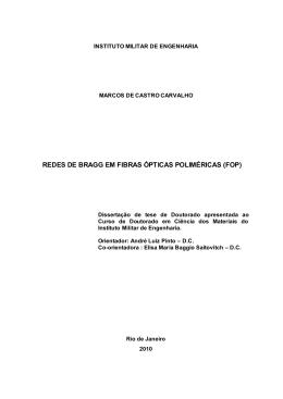 Redes de Bragg em fibras ópticas poliméricas (FOP)