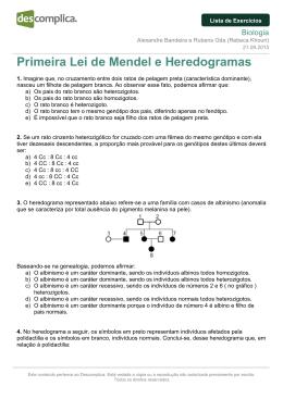 Primeira Lei de Mendel e Heredogramas