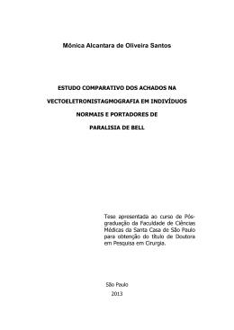 Estudo comparativo dos achados na vectoeletronistagmografia em