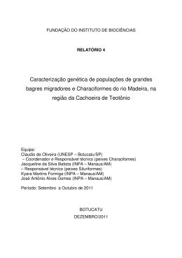 Caracterização genética de populações de grandes bagres