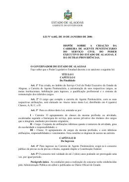 Lei nº 6.682-06 - Dispõe sobre a criação da carreira de Agente