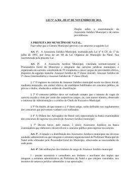 lei nº 6.304 de 07 de novembro de 2011