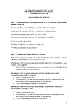 Manual de Iniciação Científica