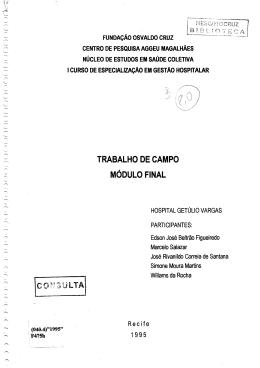 TRABALHO DE CAMPO MÓDULO FINAL