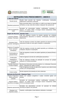 ANEXO II INSTRUÇÕES PARA PREENCHIMENTO – ANEXO II