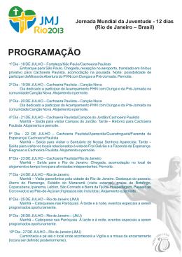 Cartaz site - JMJ RIO