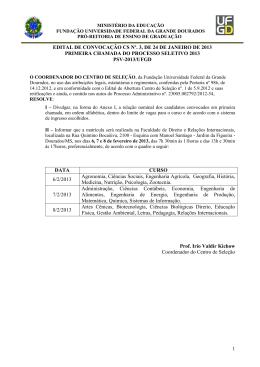 1 EDITAL DE CONVOCAÇÃO CS Nº. 3, DE 24 DE JANEIRO