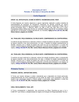 Informativo N° 0211 - OAB: Ordem dos Advogados do Brasil