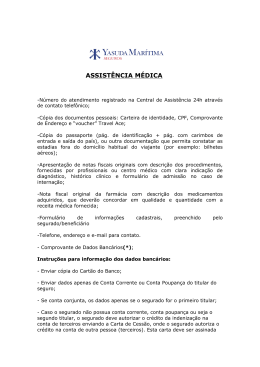 ASSISTÊNCIA MÉDICA - Travel Ace Assistance