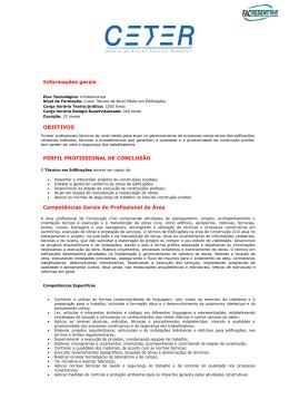 informações do curso técnico em edificações