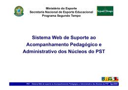 Sistema Web de Suporte ao Acompanhamento Pedagógico e