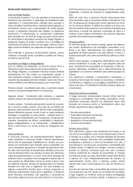 REVOLUÇÃO FRANCESA [PARTE I] Crise do Antigo Regime A