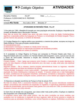 ATIVIDADES - Colégio Objetivo Rio Verde