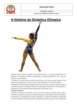 6º ano / Ginástica Artística – Histórico