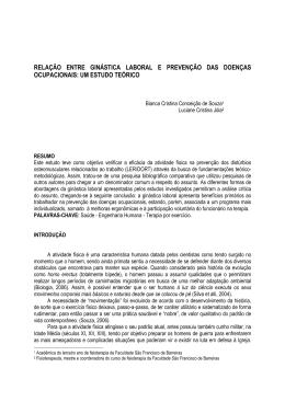 relação entre ginástica laboral e prevenção