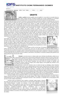 GRAFITE - Instituto Dom Fernando Gomes