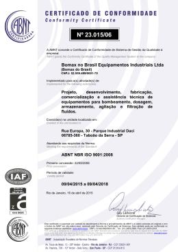 Clique aqui para baixar o Certificado ISO 9001:2008