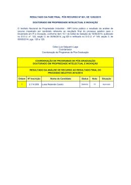 Ordem Nº Inscrição Nome do Candidato Status Nota Situação