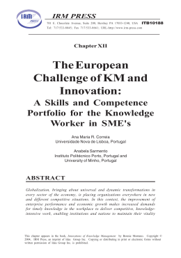 The European Challenge of KM and Innovation: