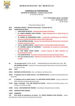 programação - Universidade Católica de Brasília