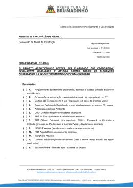 Secretaria Municipal de Planejamento e Coordenação Processo de