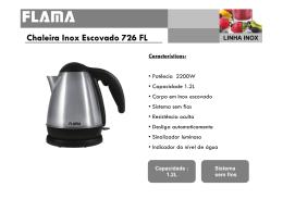 Chaleira Inox Escovado 726 FL Características