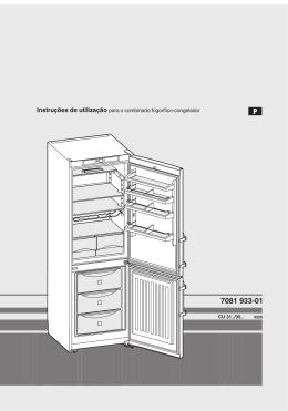 Instruções de utilização para o combinado frigorífico