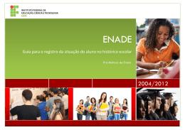 Guia para o registro da situação do aluno no histórico escolar